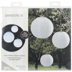 White Lace Paper Lanterns   3 ct