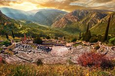 Ancient Theatre of Delphi - Ah, Greece! That beautiful birth place of the Dramatic Arts as we know it to this very day. It's amazing how much of my own personal happiness I owe to ancient Grecian ethos.