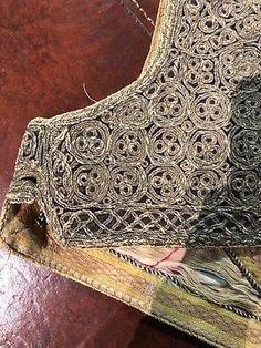 Rare Antique Turkish Metallic Embroidered Vest Waistcoat Ottoman Tassels Beads