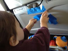 Pack painter's tape when flying with toddlers to keep them busy