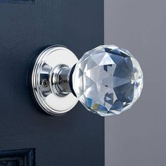 alno inc crystal polished chrome 25 mm large square knob