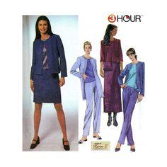 Elastic Waist Pants, Skirt, Top, Jacket, Shoulder Bag Misses Size 12, 14, 16, 18 Bust 34, 36, 38, 40 Sewing Pattern Uncut Simplicity 9399