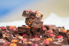 Sweet & Sassy M&M's® Chili Nut Chocolate Blueberry Bark