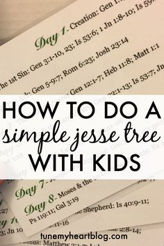 A Simple Jesse Tree tradition we do with our kids & toddlers. You can do it all for free too! Make advent meaningful for your littles and try a Jesse Tree!