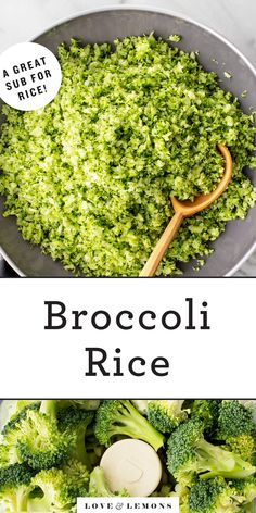 Broccoli Rice Recipe – Love and Lemons Don't toss that broccoli stalk! This easy broccoli rice recipe uses the whole vegetable – stalk and all. Stuff it into burritos, add it to bowls, toss it into stir fries, and more! Broccoli Stalk, Broccoli Rice, Riced Broccoli Recipes, Turmeric Cauliflower, Cauliflower Fried Rice, Healthy Side Dishes, Side Dishes Easy, Veg Dishes, Healthy Sides