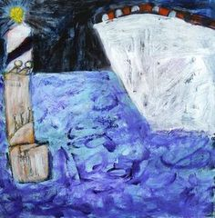Nightship by Christy Sverre acrylic on hardboard available Nautical Art, Norway, Abstract, Painting, Inspiration, Biblical Inspiration, Painting Art, Paintings, Paint