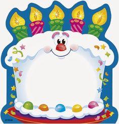Trend Bright Birthday Shaped Note Pad, 50 x Multicolor - Birthday Cake Birthday Clipart, Birthday Wishes, Happy Birthday, Birthday Cake, Preschool Crafts, Crafts For Kids, Kids Notes, Classroom Birthday, Birthday Charts