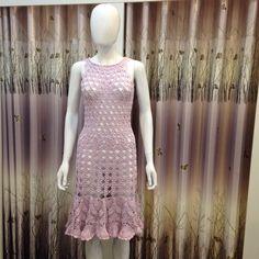 Crochet purple dress