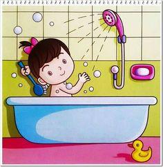 Banyo yapan çocuk
