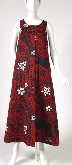 Quilted cotton/rayon dress, by Marimekko Oy, ca. 1970.