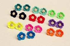 Jewelry Show—Colorful Flower Earstuds | PandaHall Beads Jewelry Blog