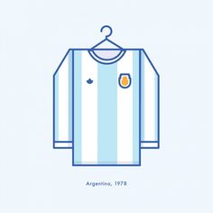World Cup Minimal Football Kits Argentina 1978 Illustration | Lucas Jubb Design & Illustration