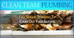 #Plumbing #Tip for the #FirstDayOfFall  - now is the perfect time to clean out leaves and debris in your roof gutter & inspect for leaks.