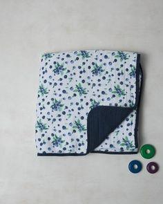 Little Unicorn | Classic Muslin Quilt | Blueberry | 49.99 | ECOBUNS BABY + CO. | www.ecobunsstore.com