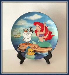 The Little Mermaid Plate A Visit to the Surface by bettysworld4u