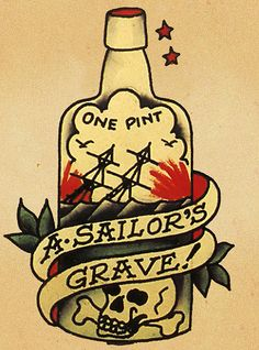 The Best Temporary 'A Sailor's Grave' - Sailor Jerry tattoos. Only EasyTatt 'A Sailor's Grave' - Sailor Jerry Tattoos Look Real, Use Your Own Design or Choose from Thousands of Designs. Sailor Jerry Flash, Sailor Jerry Rum, Sailor Jerry Tattoos, Tattoo Old School, Monami Frost, Flash Art, Marin Vintage, Hawaiianisches Tattoo, Tattoo Forearm