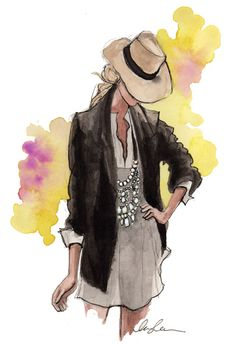 blazer, fashion sketches, fashion models, girl fashion, outfit, drawing fashion, illustration art, fashion illustrations, hat