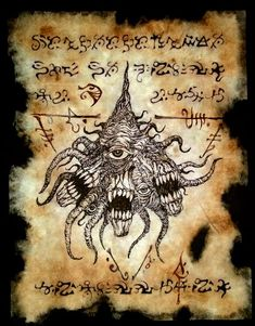 Lurker at the Threshold by MrZarono on DeviantArt Lovecraft Cthulhu, Hp Lovecraft, Wiccan Spell Book, Fantasy Wizard, Dark Books, Lovecraftian Horror, Book Of The Dead, Satanic Art, Dark Artwork