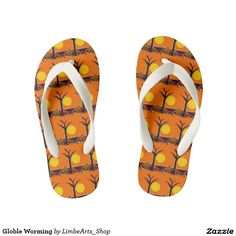 Globle Worming Kid's Flip Flops