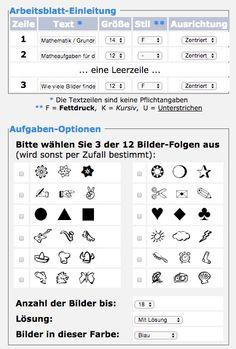Praktisch: Unterschiede sehen und zählen (Arbeitsblattgenerator)