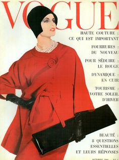 Vogue Paris Octobre 1960    Dorothea McGowan by Irving Penn
