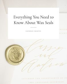 Everything you need to know about wax seals. | DIY, how to make, stamps, tutorials, glue guns, initials, projects, envelopes, products, gifts, wedding, invitations, invites, stationery, guide | Gatherie Creative | photography by Ivory + Bliss