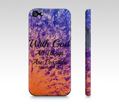With God All Things are Possible Choose iPhone 4 4S by EbiEmporium, $40.00 #peach #orange #splash #ocean #waves #purple #blue #violet  #God #Bible #Biblical #Holy #Lord #Praise #Inspiration #Proverbs #Scripture #colorful #waves #elegant #chic #ombre #Religious #Christian #God #iPhone #Case, #Biblical #Verse #Jesus #Christ #Cell #Phone Case