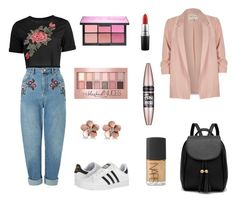 """Casual yet bold"" by xoellapearsonxo on Polyvore featuring River Island, Miss Selfridge, adidas, Allurez, MAC Cosmetics, NARS Cosmetics and Maybelline"
