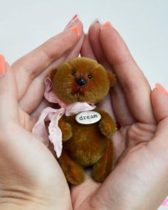 Teddy Miniature Stuffed Toy Bear Patty OOAK by irinamakarovashop