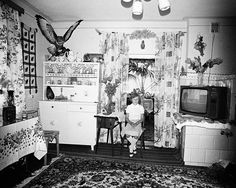 """© Zofia Rydet, from the series Sociological Record, Courtesy Foundation Zofia Rydet © Zofia Rydet, from the series Sociological Record, Courtesy Foundation Zofia Rydet """"Zofia Rydet mentioned in one of… Houses In Poland, Art Moderne, Bruce Lee, Portrait Photography, Photo Wall, Gallery Wall, Hit, Painting, Women"""