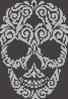 Sugar skull x-stitch