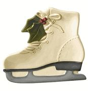 Set of 2 Ice Skate Cookie Plates, Deck the Halls by Grasslands Road