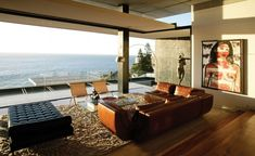 Mies Van Der Rohe's Barcelona Daybed positioned for a view of the sea