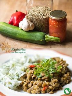 Kuchařka ze Svatojánu: ČOČKA DUŠENÁ SE ZELENINOU Grains, Rice, Food, Fitness, Eten, Keep Fit, Seeds, Meals, Korn