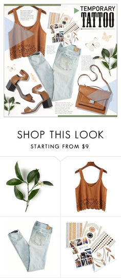 """""""Style Your Temporary Tattoos"""" by alexandrazeres ❤ liked on Polyvore featuring Loeffler Randall, American Eagle Outfitters, Pierre Hardy, Flash Tattoos, tattoo, temporarytattoo and flashtattoo"""