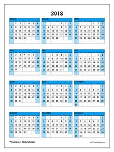 Calendrier 2018 (40DS)