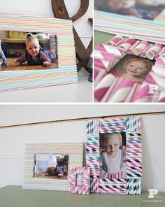How to make a paper straw picture frame by Pysselbolaget.