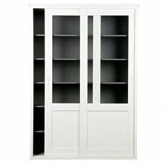 LEF collections Schuifdeurkast Vince wit grenen hout 208x147x46cm