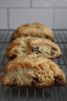 Chocolate ButtermilkScones #recipe via @blueeyedbakers. DIY Buttermilk: 1c Silk Original + 1Tbsp white vinegar, whisk.