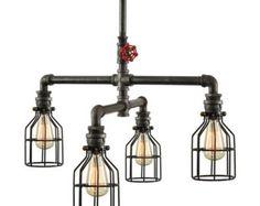 Ceiling Light Metal Light Bar Light by WestNinthVintage on Etsy