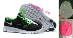 Mens Nike Free Run 2 Black White Green Shoes  #Mens #Nike #Free #Run2