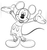 How to draw Mickey Mouse Drawing tutorial