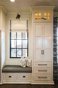 Glazed White Cabinets in Benjamin Moore White Dove with Vandyke glaze   Alicia Zupan