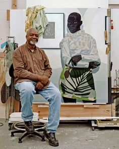 "Mr. Marshall has always painted only black figures: ""If I didn't do it, how else…"