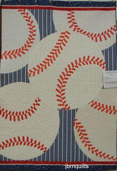 Baseball quilt - I found the idea on Pinterest!  Thanks Shari. 2013