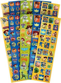 Toy Story Stickers Value Pack 10 Sheets - Party City