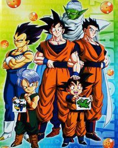 Awww! Goten and Trunks drew stuff! How cute! - Goku, Vegeta, Gohan, Goten, Trunks, Piccolo.