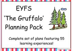 Starting a topic on 'The Gruffalo'? Make life easy with this collection of planning and 21 teaching resources. The fully editable planning pack meets the r. Gruffalo Eyfs, Gruffalo Activities, Eyfs Activities, The Gruffalo, Book Activities, Primary Education, Special Education Classroom, Lesson Plan Templates, Lesson Plans