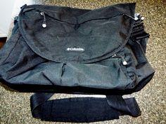 COLUMBIA Black Side MESSENGER BAG Sling Backpack Book Bag Laptop Computer Travel Columbia MessengerShoulderBag