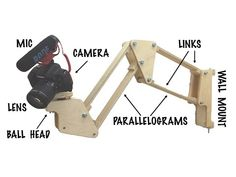 Making a Wall Mount for my Camera Wooden Lamp, Wooden Diy, Woodworking Workbench, Woodworking Projects, Diy Tripod, Home Design Diy, 3d Cnc, Led Diy, Diy Shops